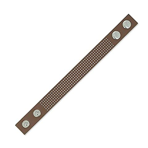 Bracelet to embroider imitation leather 20 mm brown x 23