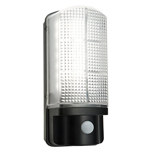 Saxby Sella 7W Noir mat Jardin Extérieur de sécurité avec détecteur de mouvement IP44Applique murale Lampe murale LED mur