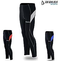 Deckra Ciclismo pantaloni antivento termale fredda indossare leggings invernali ciclismo calzamaglia imbottito Bike (nero / grigio, piccolo)