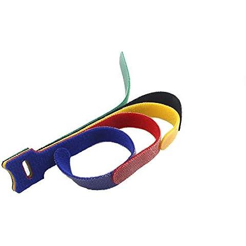 Haodasi Mescolare i colori regolabile 100pcs Velcro Hook Loop riutilizzabile Fascette Organizer