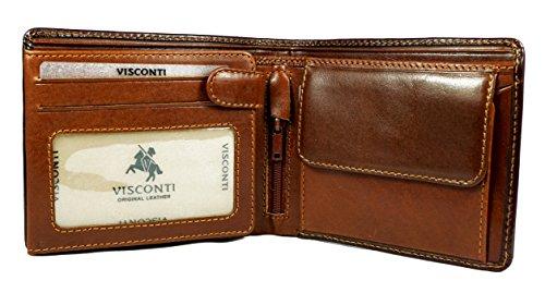 "Visconti Bifold Cuir Homme Portefeuille ""Torino"", Cognac Wallet(TR40): (marron / cognac (brown/cognac))"