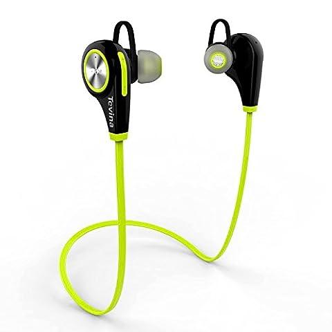 Bluetooth Kopfhörer - Tevina Kabellose In-Ear Ohrhörer Stereo Wireless Sport Headset Bluetooth 4.1 - Lime