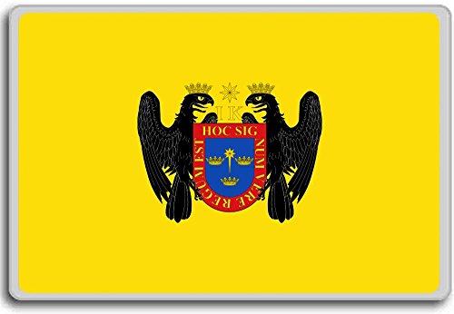 Peru, Lima city flag fridge magnet - Kühlschrankmagnet
