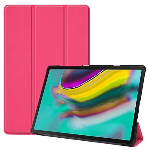 Kybers Trifold Smart Case Schutzhülle für Samsung Galaxy Tab S5e 10.5 2019 T720 T725, Leder, Standfunktion, Mehrfarbig, Unisex, hot pink - Galaxy Tablet Samsung 4s