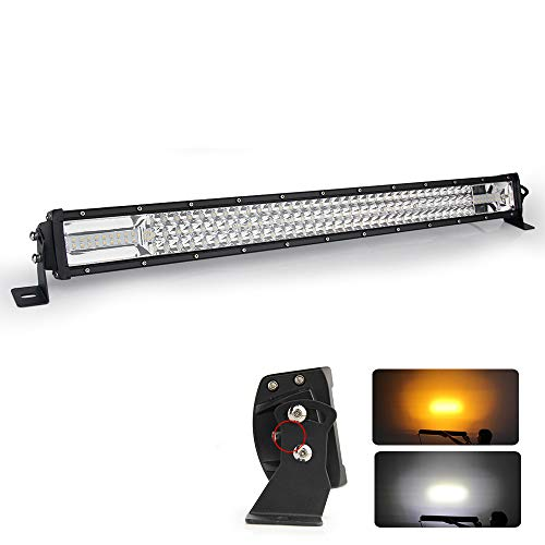 32 Zoll led bar Offroad LED Arbeitsscheinwerfer bar 2 color 540W Amber White 3000K 6500K Flash Triple Row led balken 81.3cm led scheinwerfer Bar 12V 24V Traktor,9631RQ-32inch
