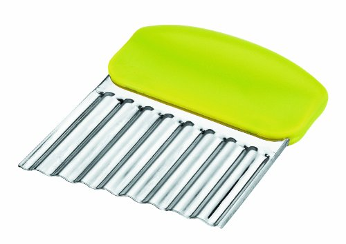 ibili Wavy Vegetable Slicer, Silver/Green, 8 x 10 cm