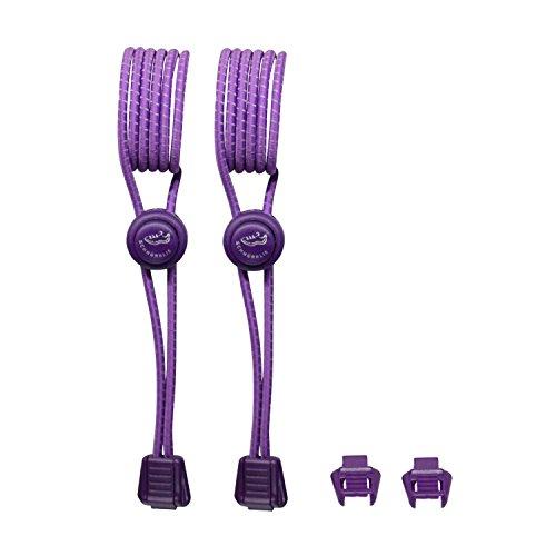 SCHNÜRRLIE elastische Sport Schnürsenkel - flexible reflektierende Bänder - Schnürsystem Lila
