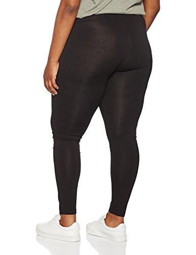 Ulla Popken Femme Grandes tailles Leggings long en Coton, Classique Pants Extensible Confortable 665315 Noir