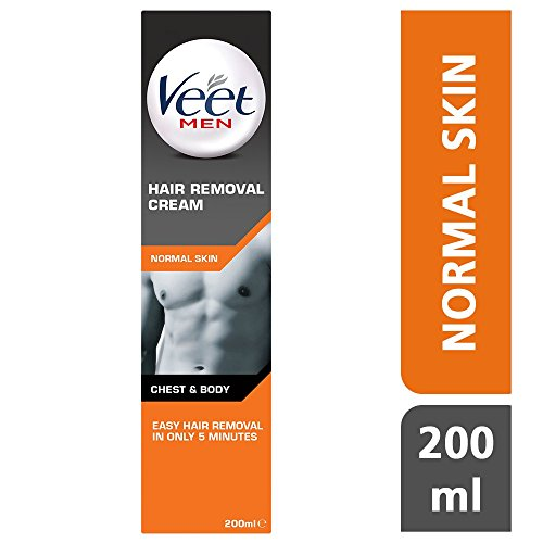 Veet Men, Gel Depilatorio Uomo, Pelli Normali, 200 ml