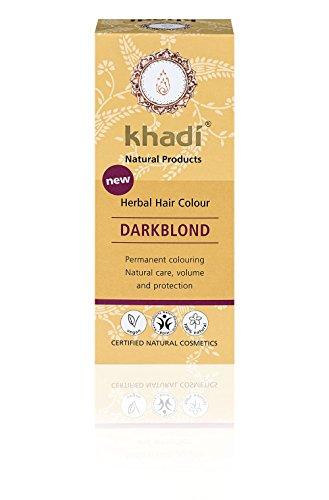 KHADI - Tinte Vegetal Rubio oscuro - 100% natural - Para todo tipo de cabello - Fortalecimiento y nutrición - Certificado BDIH - Vegano - 100 gr