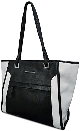nine-west-black-white-monochrome-tote-shoulder-bag-rrp-55