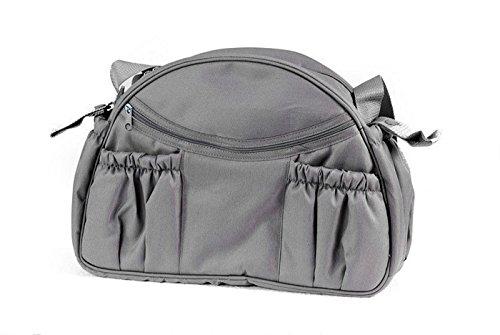 Wickeltasche 'Tasche mit Wickelauflage' 1801-03 rund von UNITED-KIDS, diverse Farben, Farbe:Schwarz Grau