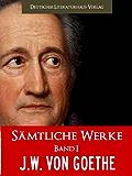GOETHE GESAMTAUSGABE - SAEMTLICHE WERKE BAND I [Illustrierte] (Johann Wolfgang von Goethe Gesamtausgabe 1)