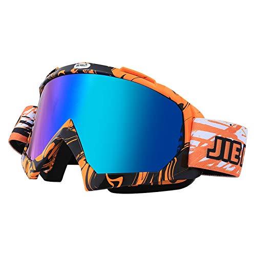 AmDxD TPU Motorradbrillen Winddicht Schutzbrillen UV-Schutz Outdoor Schutz Brille Rennwagen...