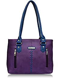 Fristo Two Zips Women's Handbag (Purple And Blue)