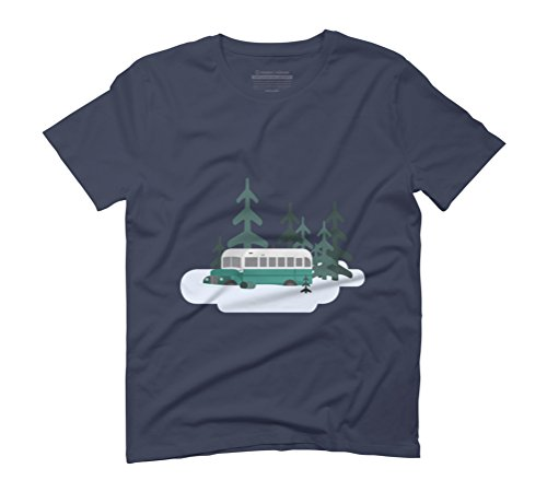 Into The Wild Men's Graphic T-Shirt - Design By Humans Navy