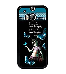 PrintDhaba Quote D-4098 Back Case Cover for HTC ONE M8s (Multi-Coloured)