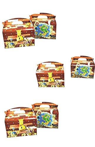 6 X Piraten Schatzkiste Kindergeburtstags Set zum Befüllen by schenkfix