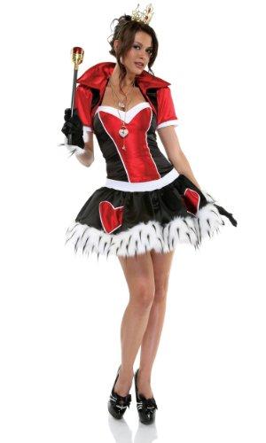 Märchenkönigin Herzkönigin Kostüm - S-M