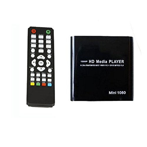 Malloom® 1080P Mini HDD Media Player MKV/H.264/RMVB HD con HOST USB/SD Card Reader negro