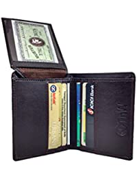 TnW Designer Card Holder. Made In Genuine Leather Credit Card Case With Key Ring And Multiple Card Slots