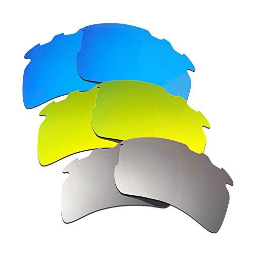 9c244580868 Hkuco Plus Mens Replacement Lenses For Oakley Flak 2.0 XL-Vented Blue 24K  Gold Titanium Sunglasses - Buy Online in Oman.