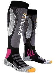 X-Socks Ski Touring Silver Lady,  Donna, Nero/Violetto, 37/38