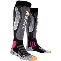 X-Socks - Calcetines de esquí para mujer, tamaño 39-40, color negro/morado