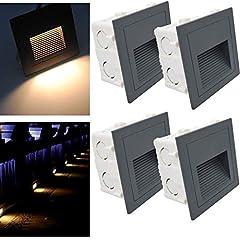 Arotelicht 4er 3W LED Treppenlicht