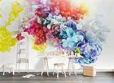 Fototapete 3D Tapete Vlies Wanddeko Hintergrund Der Wall Der Strand Mit Kokospalmen In Den Blauen Himmel, Weiße Wolken