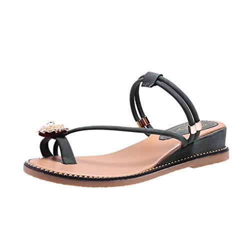 ✿Eaylis Damen Sandalen Neuer Kleiner Blumenrhinestone Der Prisezehe Sommer Strand Schuhe Hausschuhe Stilvoll und elegant