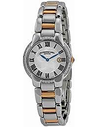 Raymond Weil Jasmin Femme Diamants 29mm Date Saphir Verre Montre 5229-S5S-01659