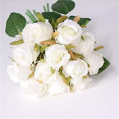 Xqi wangpu Künstliche Blumen 55 Branch Classic Modern Contemporary Roses Tischplatte Blume, weiß - Kopf-tisch-mittelstücke