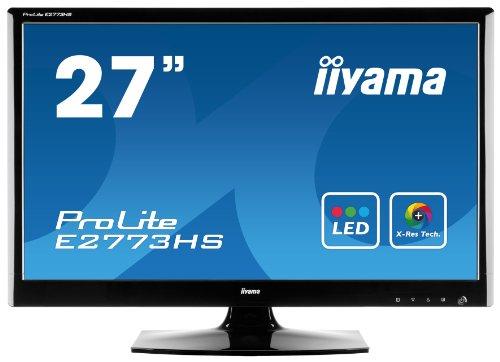 IIYAMA E2773HS-GB1 27 inch Widescreen WLED Monitor (5ms, DVI/HDMI/MM)