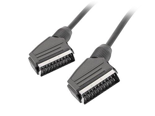 lanberg CA-EUEU-10CC-0018-BK Scart-Scart Kabel Audio-Video, 1,8m schwarz