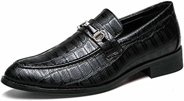 GLSHI Hombres Zapatos Oxford De Cuero De Moda De Moda Oxford 2018 De Moda Modelo De Moda De Cocodrilo (Color :...