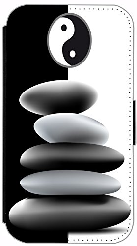 Flip Cover für Apple iPhone 5 5s Design 477 Pferd Hengst Weiß Wiese Grün Weiß Blau Hülle aus Kunst-Leder Handytasche Etui Schutzhülle Case Wallet Buchflip (477) 500