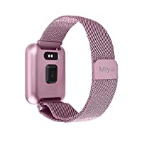 Fitness Tracker for Women,Miya Activity Tracker Waterproof IP68 Sport Smart Watch Heart Rate Monitor Pedometer Remote Camera/Music Call SMS Push Pedometer Smart Bracelet for Women Men Kids,Rose Gold