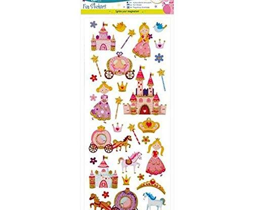 Aufkleber Glitzernden 10x23cm - Prinzessinnen, Docrafts, Einfach, Scrapbooking Papier -