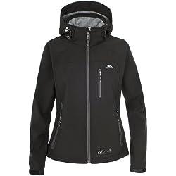 Trespass Bela - Chaqueta de esquí para mujer, color negro, talla Large