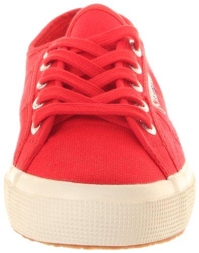 Superga 2750-Jcot Classic, Sneaker Unisex - Bambini, Bianco 18 Red