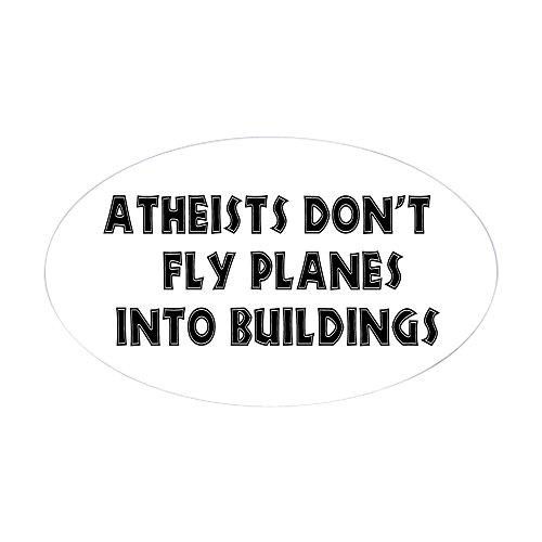 CafePress - Atheist Truth Aufkleber (oval) - ovaler Stoßstangen-Aufkleber, Euro-oval Small - 3x5 weiß