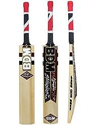 Los jugadores de autógrafos BDM Cachemira Willow Wood Bate de críquet con bolsa de tamaño del adulto - Elija Peso