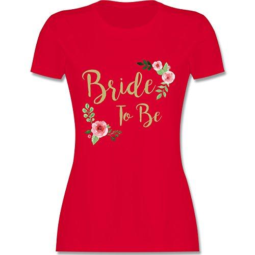 JGA Junggesellinnenabschied - Bride to Be - M - Rot - L191 - Damen Tshirt und Frauen T-Shirt