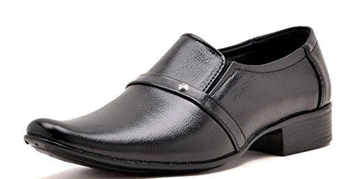 Anshul Fashion men's black synthetic formal shoes-7 (RYLL-1097-Black_7)