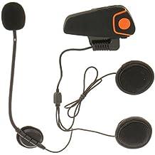 Auricular Bluetooth Interphone 1000M Motocicleta Moto Intercomunicador Casco FM