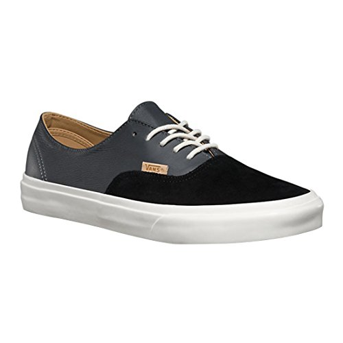 Vans Authentic Decon D Schuhe Echtleder-Sneaker Turnschuhe Schwarz VN0A2XRPJW9 (pig suede/leather) black