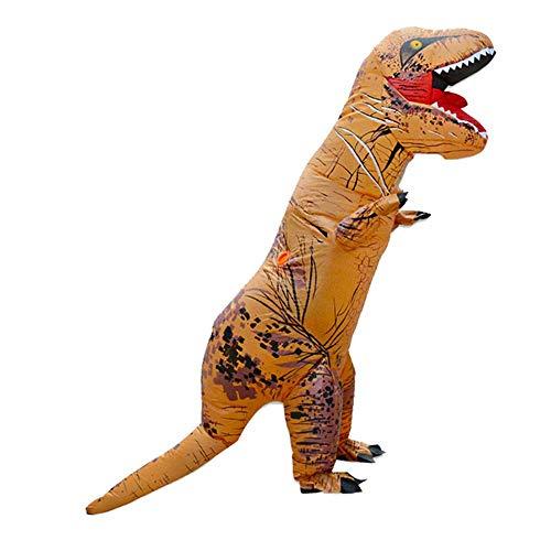 Sunnywill Aufblasbares Dinosaurier Kostüm Velociraptor Halloween Christmas Dinosaurier Kostüme für Erwachsene