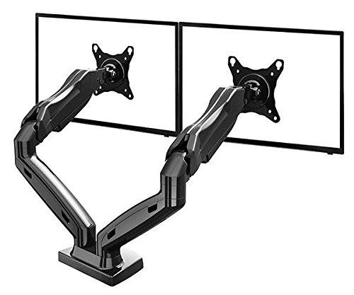 """Tischhalter F160 fuer Bildschirm, Monitor 17""""-27"""", 360° drehbar, schwankbar, hoehe stellbar, mit Gasdruckfedergelenk"""
