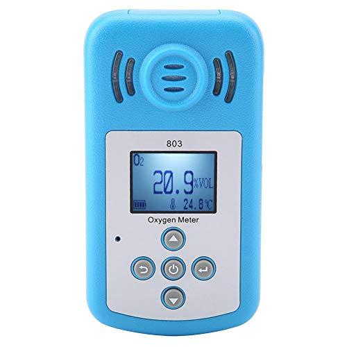 Sauerstoff Gas Detektor für Tragbaren Sauerstoff (O2) Konzentrations Detektor 803 Digital Anzeige in Blauer Farbe im Bereich von -10 ~ + 50 Explosive Gas-alarm